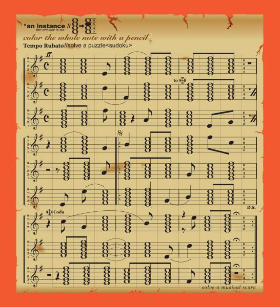 SUDOKU ART「楽譜」